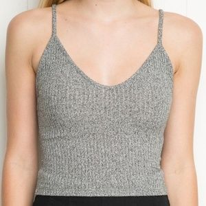 Ribbed Joanne Cropped Tank Top ▽ Brandy Melville